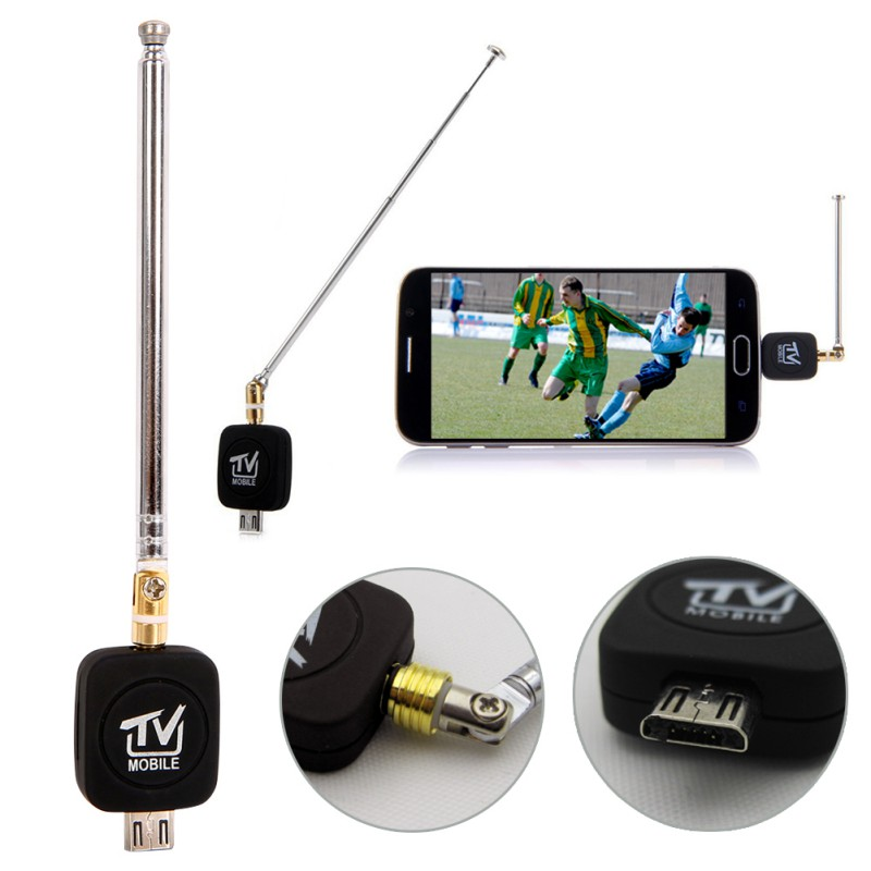 Professional Mini Micro USB DVB-T tuner TV receiver Dongle/Antenna DVB T HD Digital Mobile TV HDTV Satellite Receiver cw 189 hd ground tv receiver antenna white