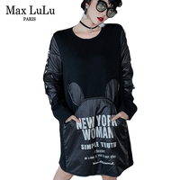 Max LuLu Luxury Korean Clothes Sexy Ladies Streetwear Womens Winter Dresses Warm Patchwork Ladies Christmas Mini Dress Plus Size