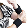 1 Pair Magnetic Massage Therapy Tourmaline Wrist Brace Protection Belt Spontaneous Heating Massager