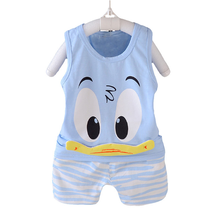 Boys Clothing Sets Summer Children Casual Cotton Vest T-shirt and Shorts suit Kids Baby Clothes Sets Infants Costume 2 pieces