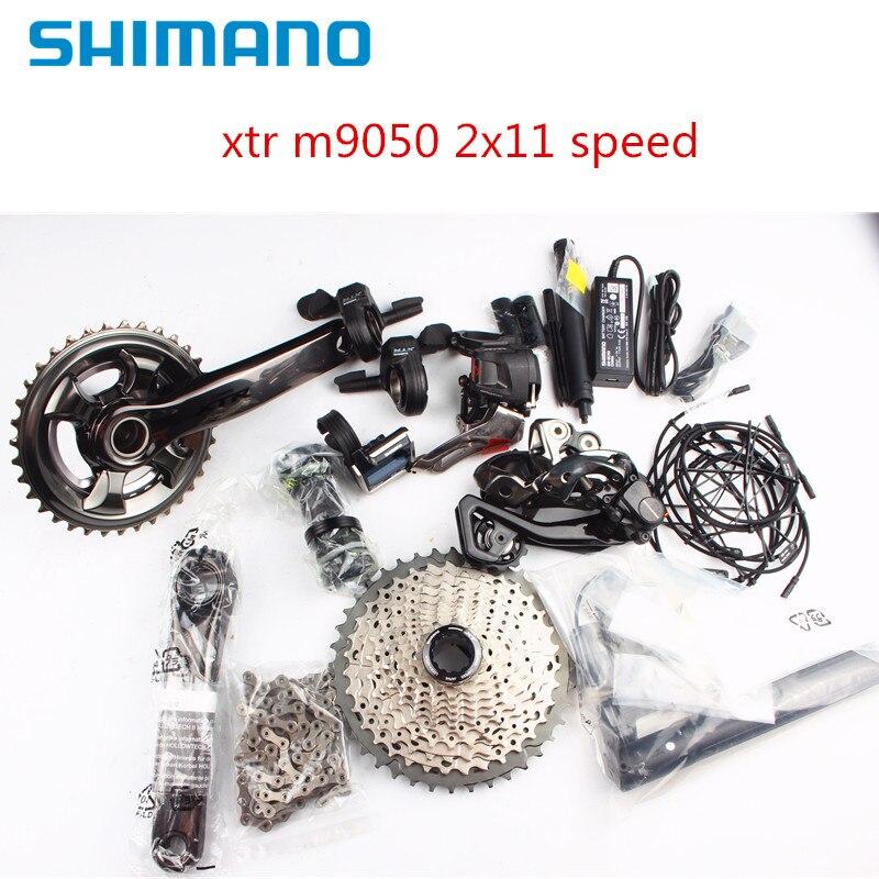Shimano XTR Di2 M9050 2x11 22 velocidade da bicicleta da bicicleta mtb Groupset eletrônico nova Marca