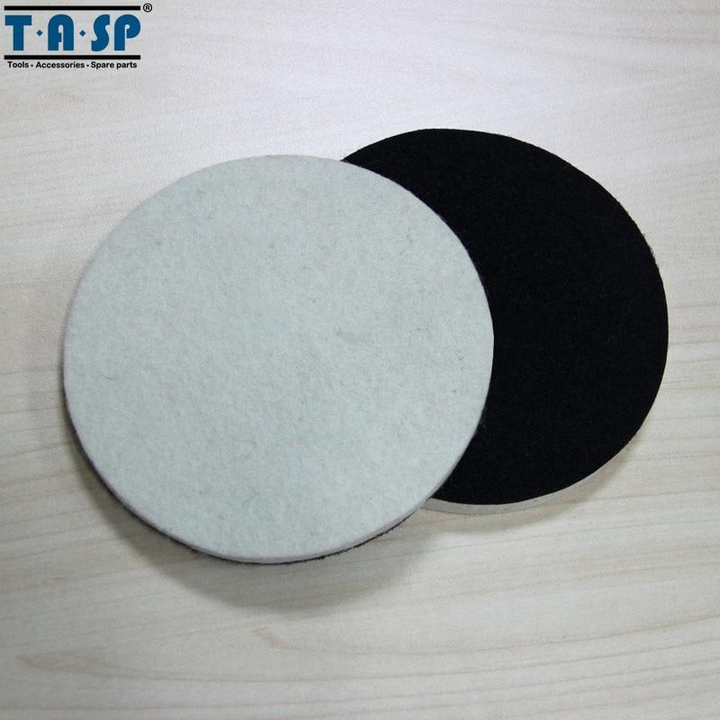 TASP 2 pezzi 125 mm lana lucidatura e lucidatura Pad Hook & Loop per - Utensili elettrici - Fotografia 2