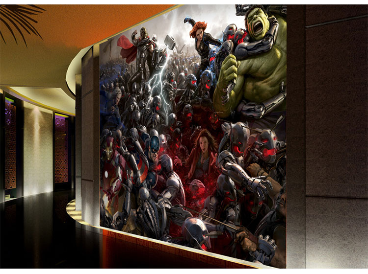 The Avengers Photo Wallpaper 3D wallpaper Wall Mural Iron Man Captain  America Boys Kids Girls Room decor Bedroom Home Decoration in Wallpapers  from Home. The Avengers Photo Wallpaper 3D wallpaper Wall Mural Iron Man