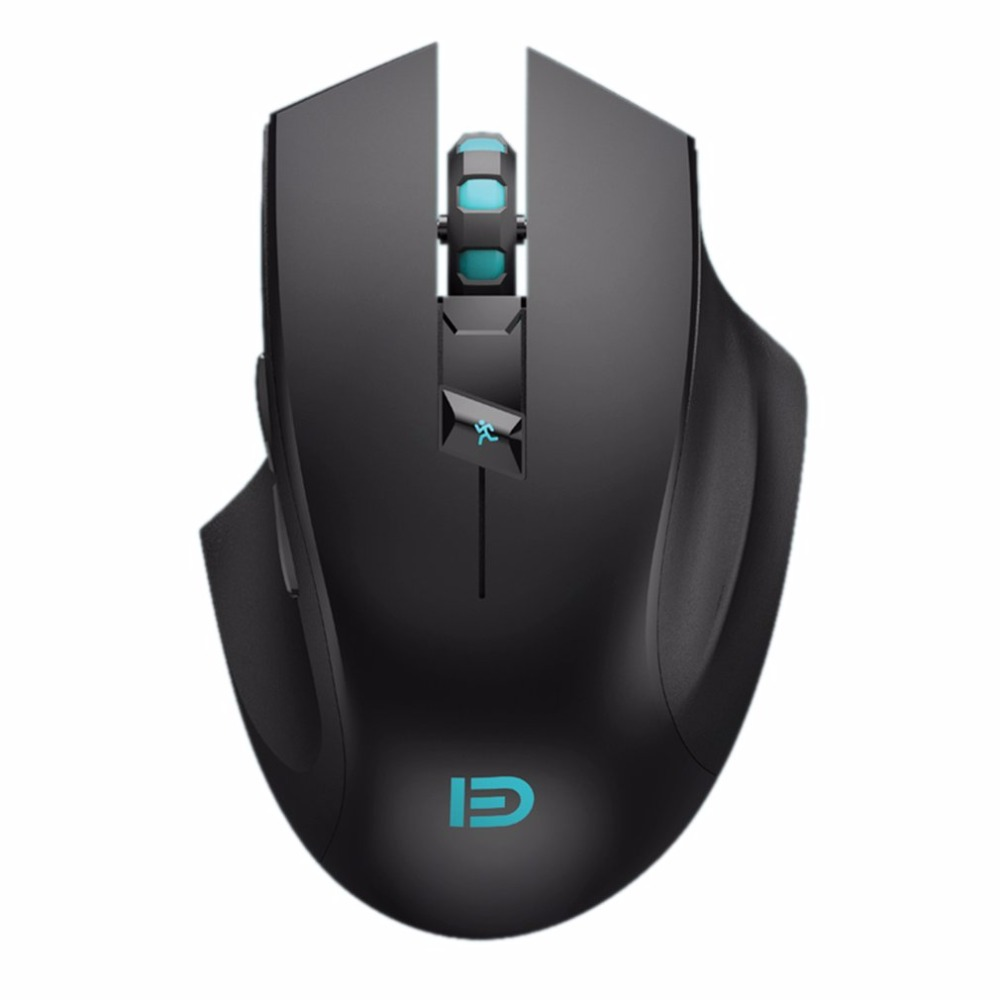 Super Quiet I720 Wireless Gaming Mouse 2400DPI Rechargeable Computer Mouse Optical Gamer Mouse For PC Black