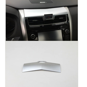 ABS Chrome plated central control panel of the Car Automotive interior trim For Nissan Teana 2016