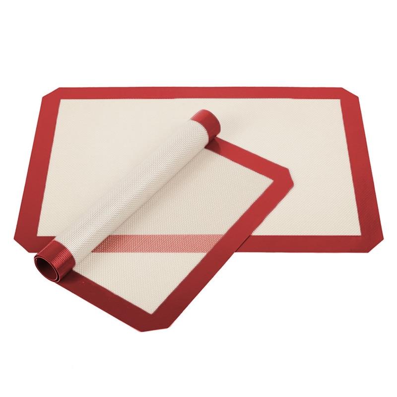 Silicone Non Stick Baking Mat Pad Baking Sheet Glass Fiber Rolling Dough Mat Large Size Baking