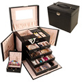 5pcs/lot Large capacity five layer leather butterfly makeup box Jewelry boxes Jewelry Storage Cases spot