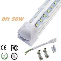 8ft led tüp t8 ışık 8 ayak ampuller tüp aydınlatma LED floresan tüp 2400mm T8 Entegre FA8 R17D G13 AC 100-240 V Tek pin