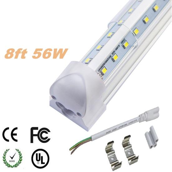 8ft led tube t8 light 8 foot bulbs tube lighting led fluorescent tube. Black Bedroom Furniture Sets. Home Design Ideas