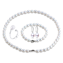 2016 New arrival women jewelry sets Wedding/Party/Engagement/gift sets High quality 925 silver jewelry 6-7mm