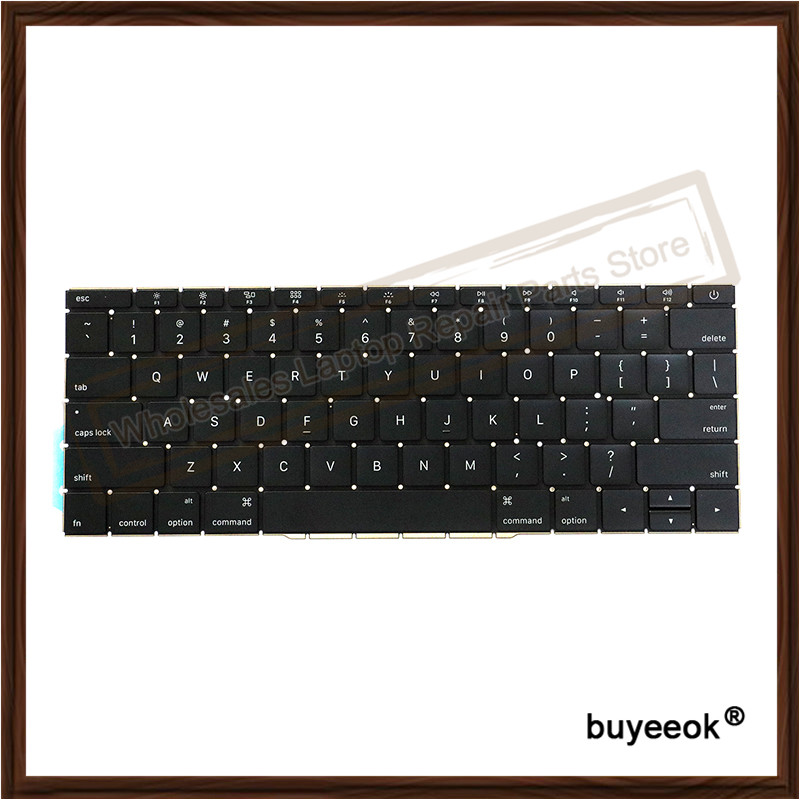 Original NEW A1708 Laptop US Keyboard Replacement for Macbook Retina Pro 13 A1708 2016 Keyboard without Backlight original new laptop a1708 azerty layout fr keyboards for macbook retina pro 13 inch a1708 french keyboard 2016 year replacement