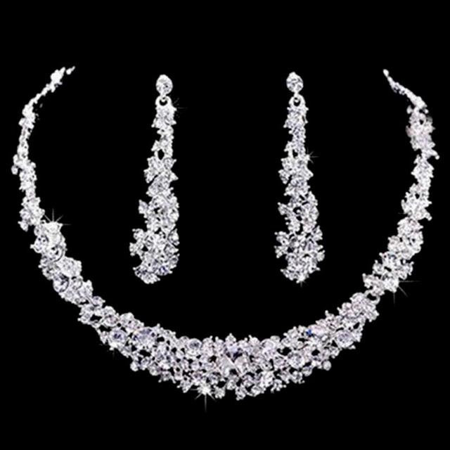 Elegant Bridal Jewelry Sets Wedding Jewelry Rhinestone Crystal