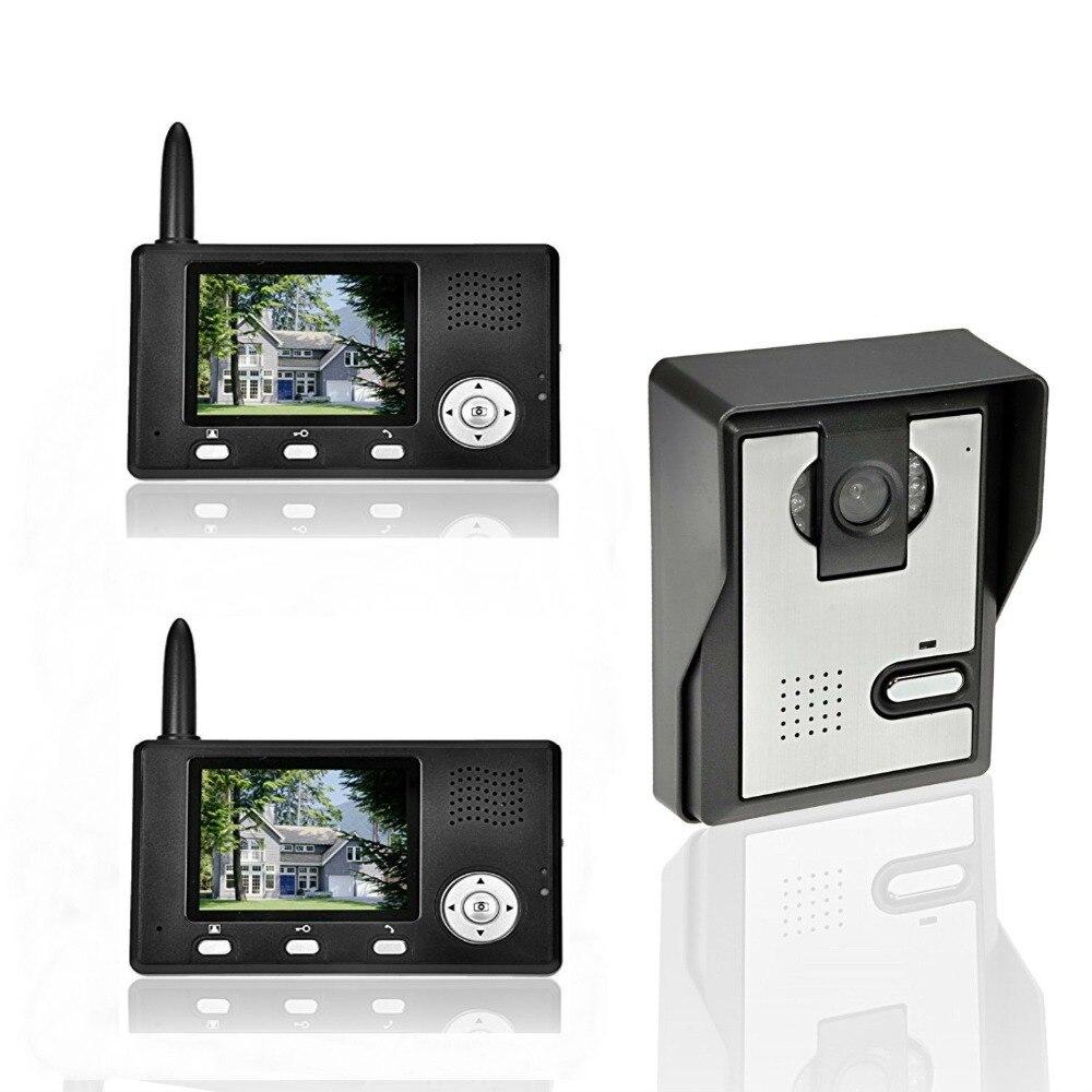 YobangSecurity 7 Inch Video Doorbell Door Chime,Rainproof Door Phone Night Vision Door Lock For 3 Units Villa Apartment