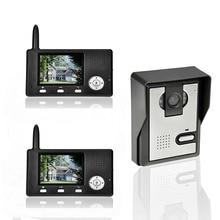 """2.4G 3.5 """"LCD Systemy Domofonowe Bezprzewodowe Video Telefon Drzwi Dzwonek Do drzwi Wideo Wizjer Viewer Dzwonka Aparatu 1 kamera 2 Monitora"""
