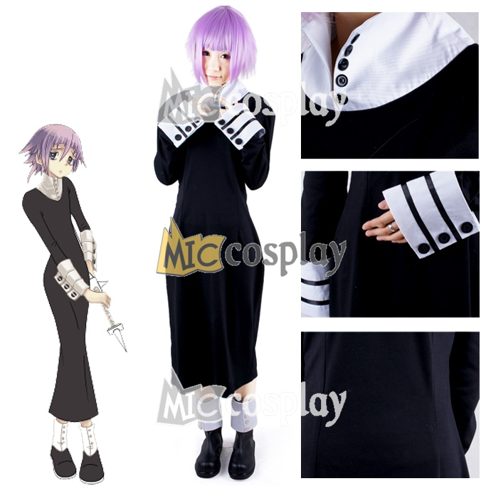 Anime New Hot Soul Eater Crona Cosplay Kostym Halloween Party Dress Kläder