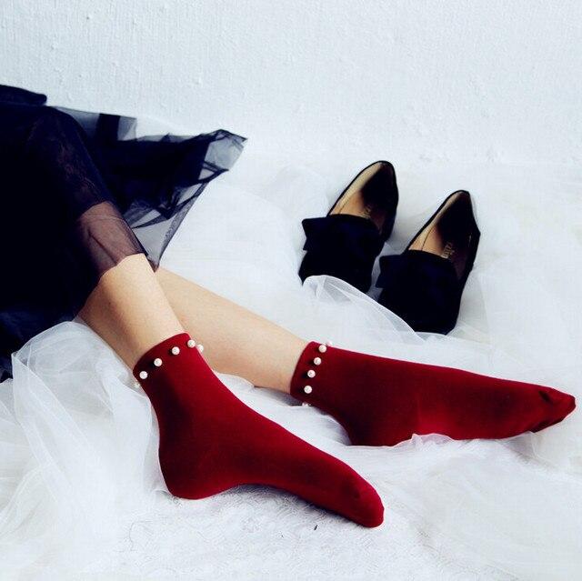 Принцесса лолита носки Ручной Работы мода джокер моды жемчужные носки Ногтей шарик короткая трубка запасов