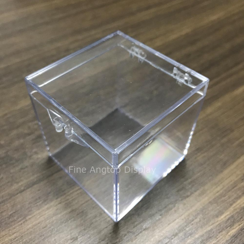 20pcs lot Small square clear plastic box earring rings storage display jewelry beads packaging box