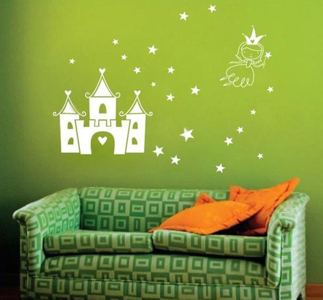 Fantasy Castle Wall Decor Stickers Modern Home Art Sticker Bedroom Decoration For Kids