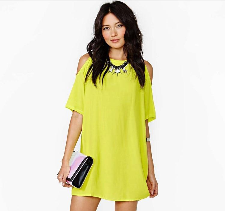 cbe21219e5d2 € 9.0 |Women's loose short dress hot sell Factory Outlet gasa Vestido corto  flojo de Mujer Strapless short sleeved chiffon dress en Vestidos de La ...