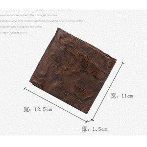 Image 5 - AETOO Handgemachte retro voller schaffell geldbörse brieftasche kurzen absatz männer und frauen brieftasche kreuz abschnitt jugend Vintage brieftasche
