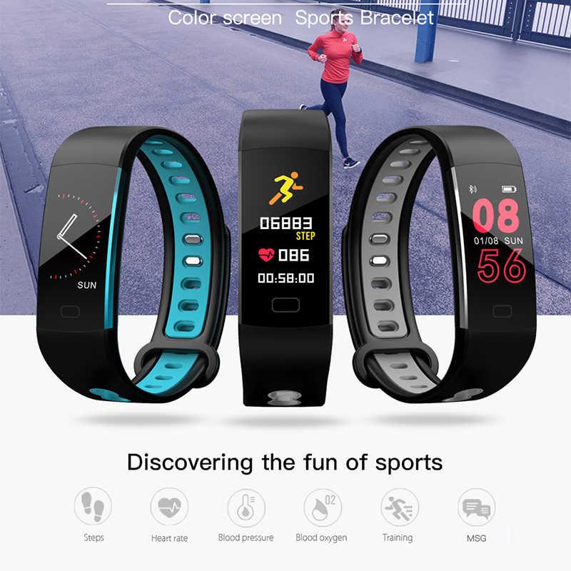 Ini Baru Smart Gelang Pria Jam Tangan Olahraga Lari Mendaki Naik Multifungsi Pedometer Heart Rate Monitor Wanita Smart Gelang