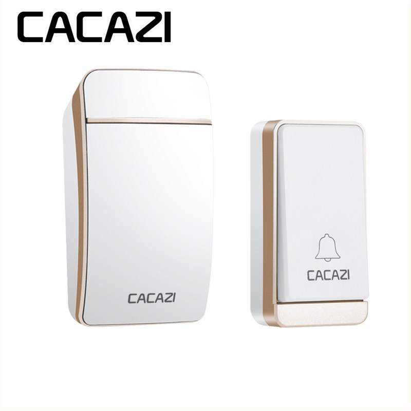 CACAZI Wireless No Battery Doorbell Waterproof Self-Powered Intelligent Household US EU UK AU Plug 200M Remote Control 36 Songs
