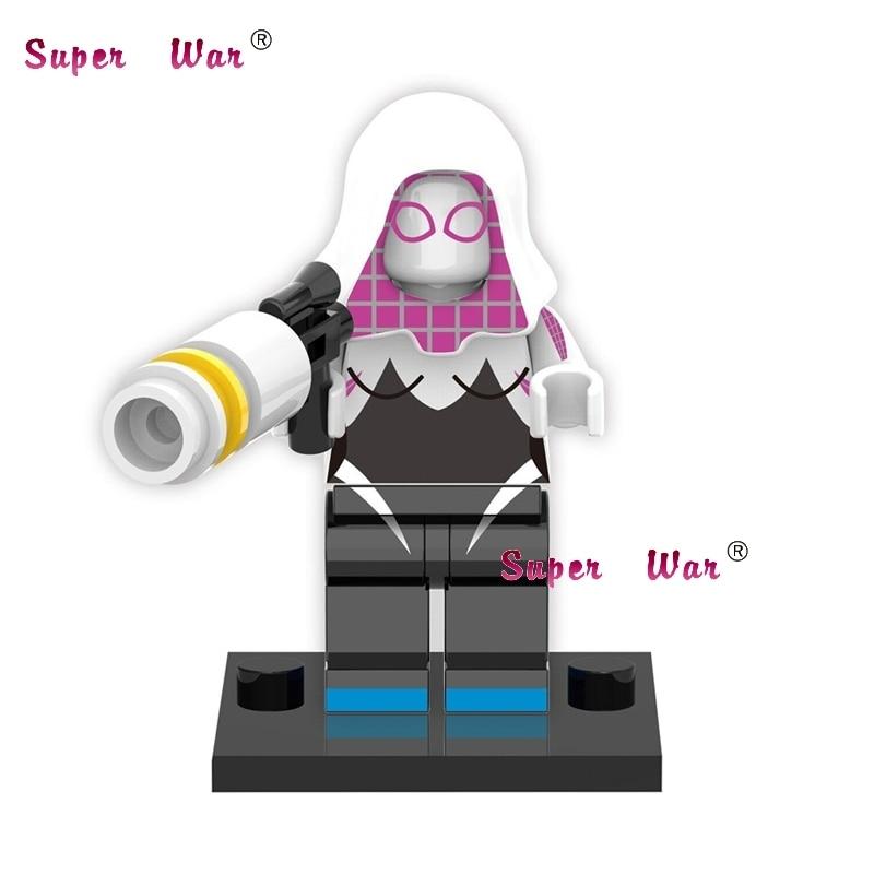 1 шт. Звездные войны супергероев marvel Мстители Gwen Человек-паук Строительные блоки Набор действия Модель Кирпичи игрушки для детей