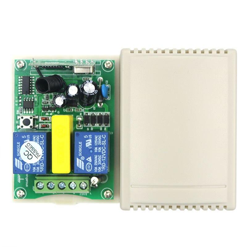 AC220V intelligent numérique RF sans fil télécommande interrupteur système travail indépendamment écran de projection et porte de garage et stores-in Télécommandes from Electronique    2