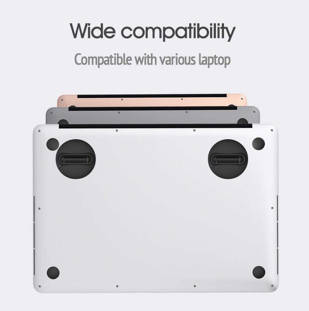 Laptop Stand Portable Cooling Pad For MacBook Laptop Notebook Cool Bracket Heat Dissipation Skidproof Pad Cooler Stand in Laptop Stand from Automobiles Motorcycles