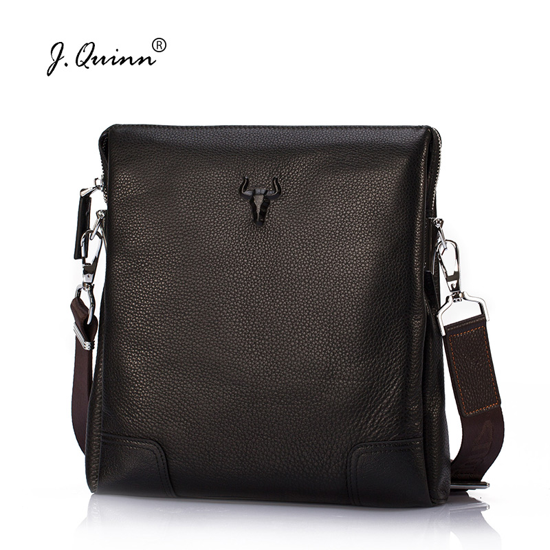 J.Quinn 2017 Men Bags Messenger Genuine Leather Mens Travel Business Crossbody Shoulder Bag for Man Fashion Brand Male Handbags men and women bag genuine leather man crossbody shoulder handbag men business bags male messenger leather satchel for boys