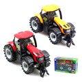 2 unids/lote 1:32 eléctrico de música de Metal granjero Tractor juguetes modelo de cabeza para los niños