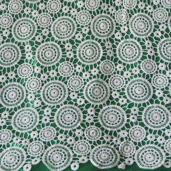 2017 Free Shipping 5 Yards High Quality Guipure Lace Nigerian Lace Fabrics Water Soluble African Lace Fabric For Wedding Dress