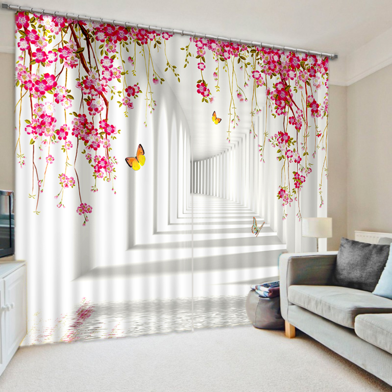 3D Painting Plant Flowers Blackout Curtains Office Bedding Room Living Room Sunshade Window Curtain Bedding Custom-made Size3D Painting Plant Flowers Blackout Curtains Office Bedding Room Living Room Sunshade Window Curtain Bedding Custom-made Size