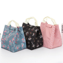 Oxford Simpl etriped Dot Portable  Lunch box Bag Thermal Insulated Cold keep Food Safe Stripe warm bags For Girls Women