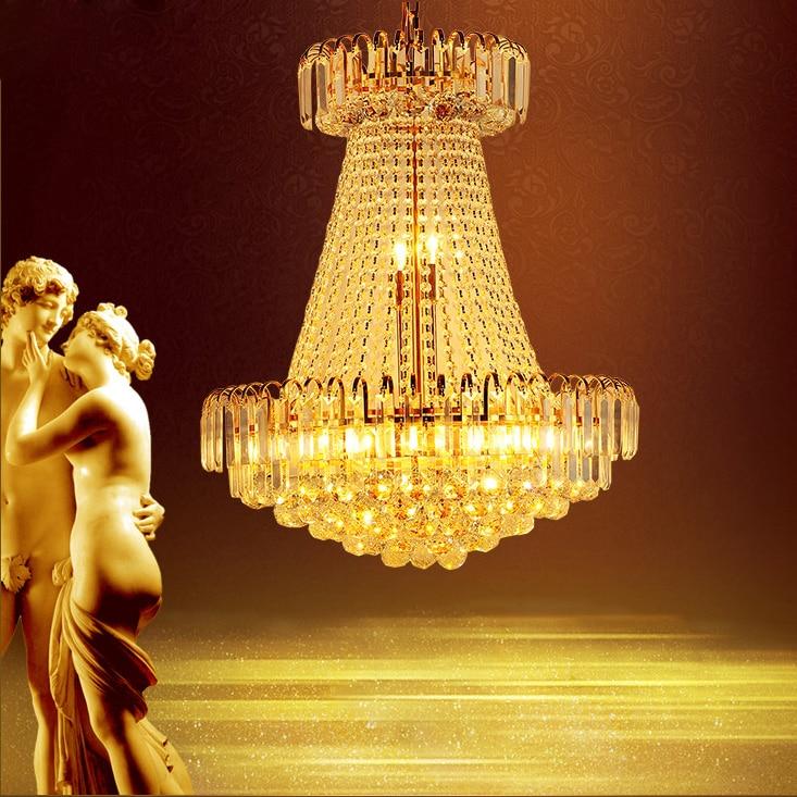 Ոսկե բյուրեղապակե ջահ K9 բյուրեղապակի - Ներքին լուսավորություն - Լուսանկար 1