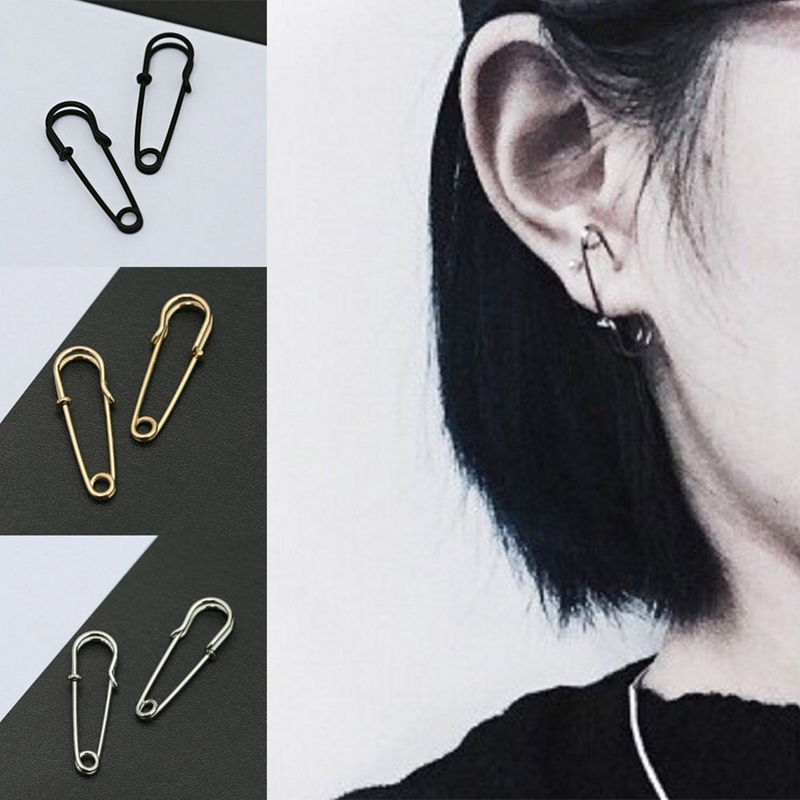 Free Shipping Party Punk Personality Alloy Safety Pin Puncture Earring Alloy Fashion Jewelry
