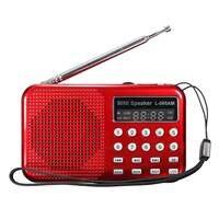ミニポータブルled懐中電灯am/fmラジオスピーカーusbポートtfカードmp3音楽プレーヤー卸売デジタルラジオ
