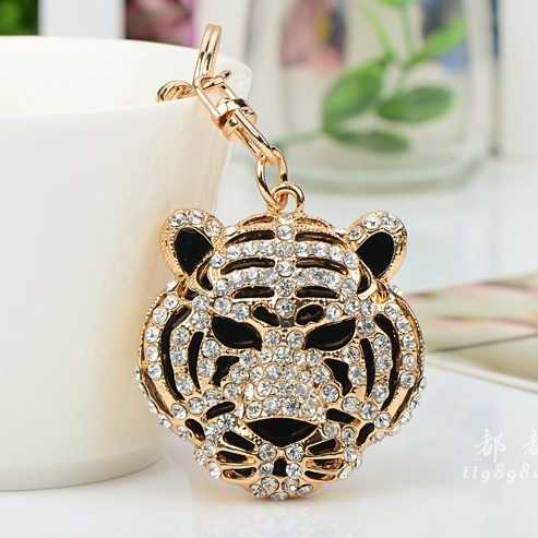 New Design Unique Aggressive Tiger King Car Keychain Keyrings Car Jewelry Accessory for Men