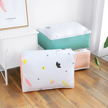 Home blanket organizer packing cubes travel luggage organizer duvet storage cover quilt storage with zipper clothes storage