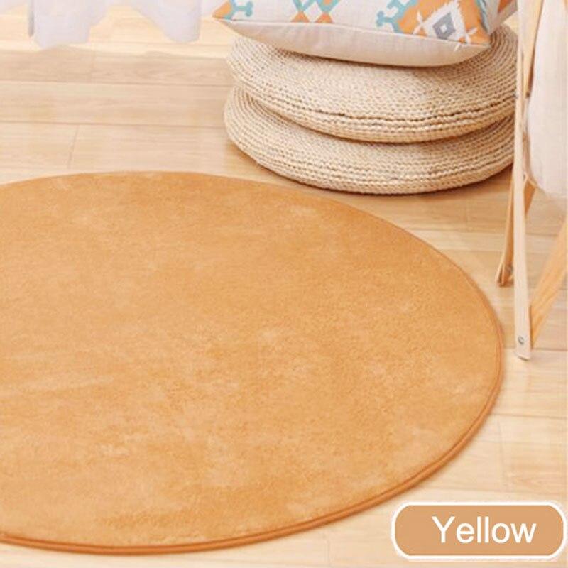ONEONEY 80*80 простые приветственные круглые коврики с принтом для ванной, кухни, коврики для гостиной, противоскользящие - Цвет: 02