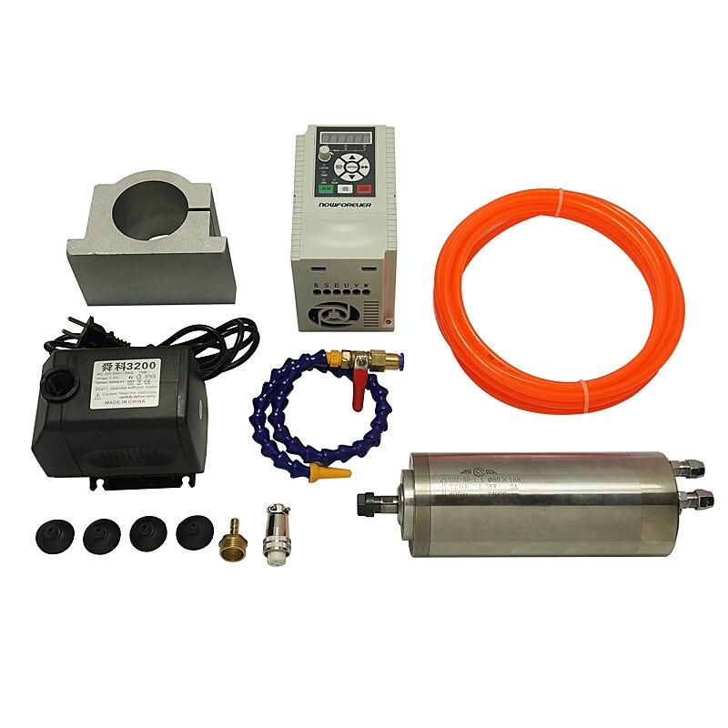 1.5KW шпинделя ЧПУ двигателя ER11 2.2KW Инвертор VFD 80 мм Шпиндельный зажим деревообработки Запчасти