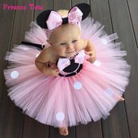 High Quality Minnie Dress Girl Kids Birthday Party Dress Tulle Baby Girls Polka Dots Cartoon Tutu Dress Princess Cosplay Costume