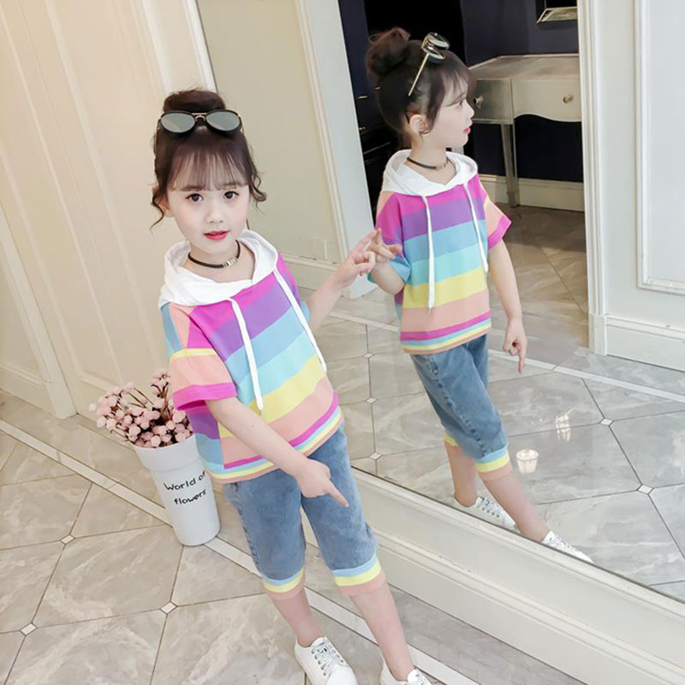 2 Color Baby Girls Clothes Sets Summer Fashion Leisure Hooded T-shirt + Quality Shorts Newborn Baby Girl Clothes Kids Girls Suit2 Color Baby Girls Clothes Sets Summer Fashion Leisure Hooded T-shirt + Quality Shorts Newborn Baby Girl Clothes Kids Girls Suit