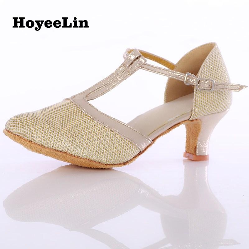 Women Ladies Glitter Modern Dance Dancing Heels Shoes Closed Toe Ballroom Party Tango Salsa Rumba Dance Performance Shoes