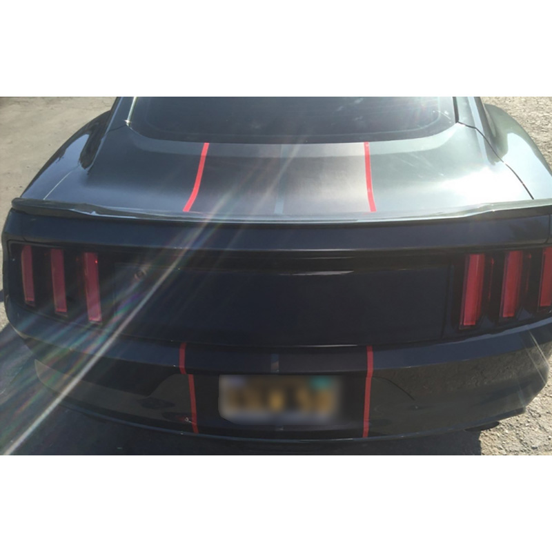 2015-2018 Car Wrap Stickers for Ford Mustang 2 color 10 Twin Rally stripes Stripe Graphic Decals Fashion Hood Racing Vinyl Wrap (3)