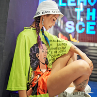 New Crop top For Women Harajuku Print T shirts Fashion Streetwear Tees