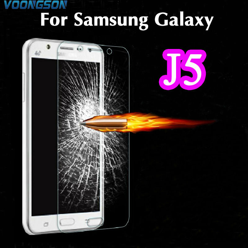 VOONGSON Explosion Proof Premium Tempered Glass Screen Protector Anti scratch Film For Samsung Galaxy J5 J500F J500H 2016 J510 in Phone Screen Protectors from Cellphones Telecommunications