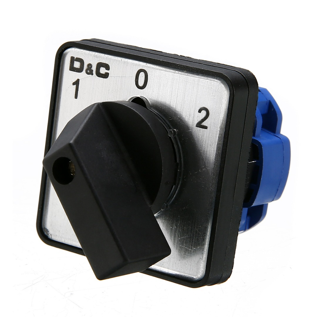 1pc On-Off-On 3 Position Universal Rotary Selector Cam Changeover Switch AC 500V Circuit Control Switch For Welding Machinery dianqi changeover switch lw5 40 3 40a 500v universal changeover combination switch 3 position 3 knots lw5