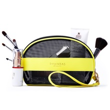 Hollow Out Cosmetic Bag Female Small Portable Storage bag Cosmetic Pouch Pochette Maquillage (21*13*7cm)