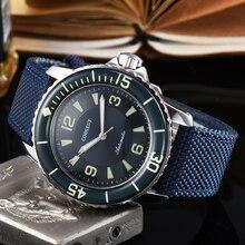 Corgeut 45mm ספורט עיצוב שעון יוקרה למעלה מותג מכאני זוהר ידיים אוטומטי עצמי רוח בציר mens שעון